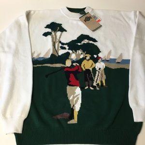 Jantzen XL 100% cotton golf sweater NWT quality